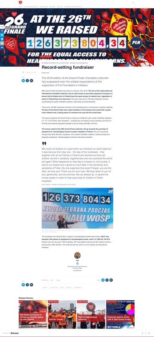Non-profit Event Press Release Example