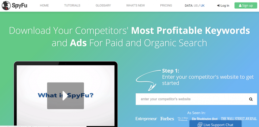 SpyFu - best growth hacking platforms by Prowly Magazine