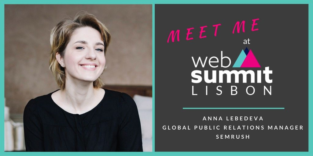 "WebSummit ""Meet me"" by Anna Lebedeva, SemRush"