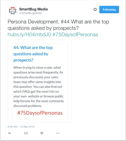 Promoting Content: Developing a Content Marketing Strategy (2 of 2): #75daysofpersonas