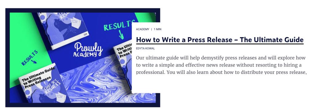 Press Release Guide