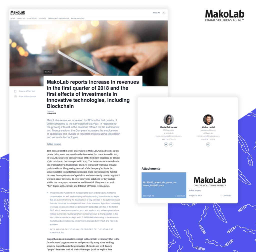 MakoLab press release example