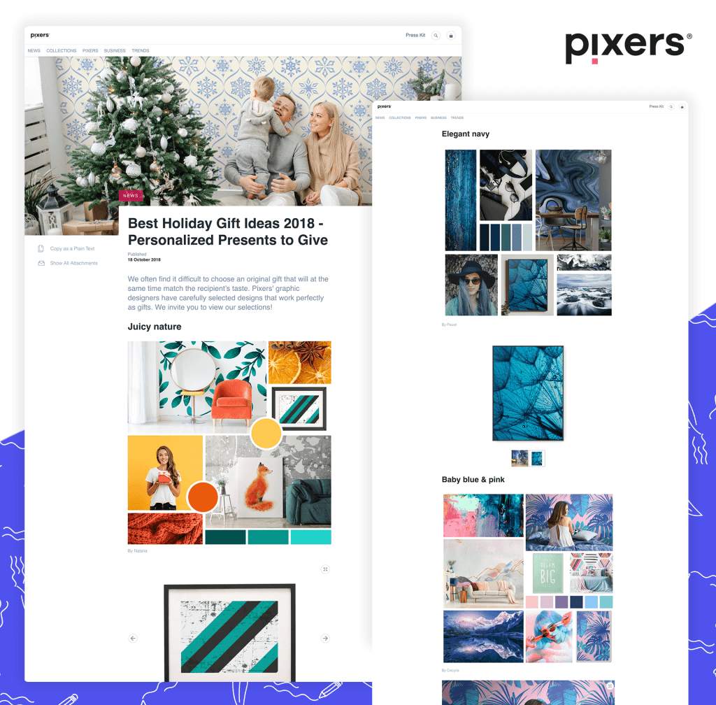 Press release with pictures - by Pixers