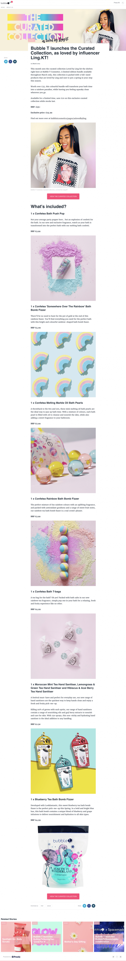 Cosmetics Product Press Release Example