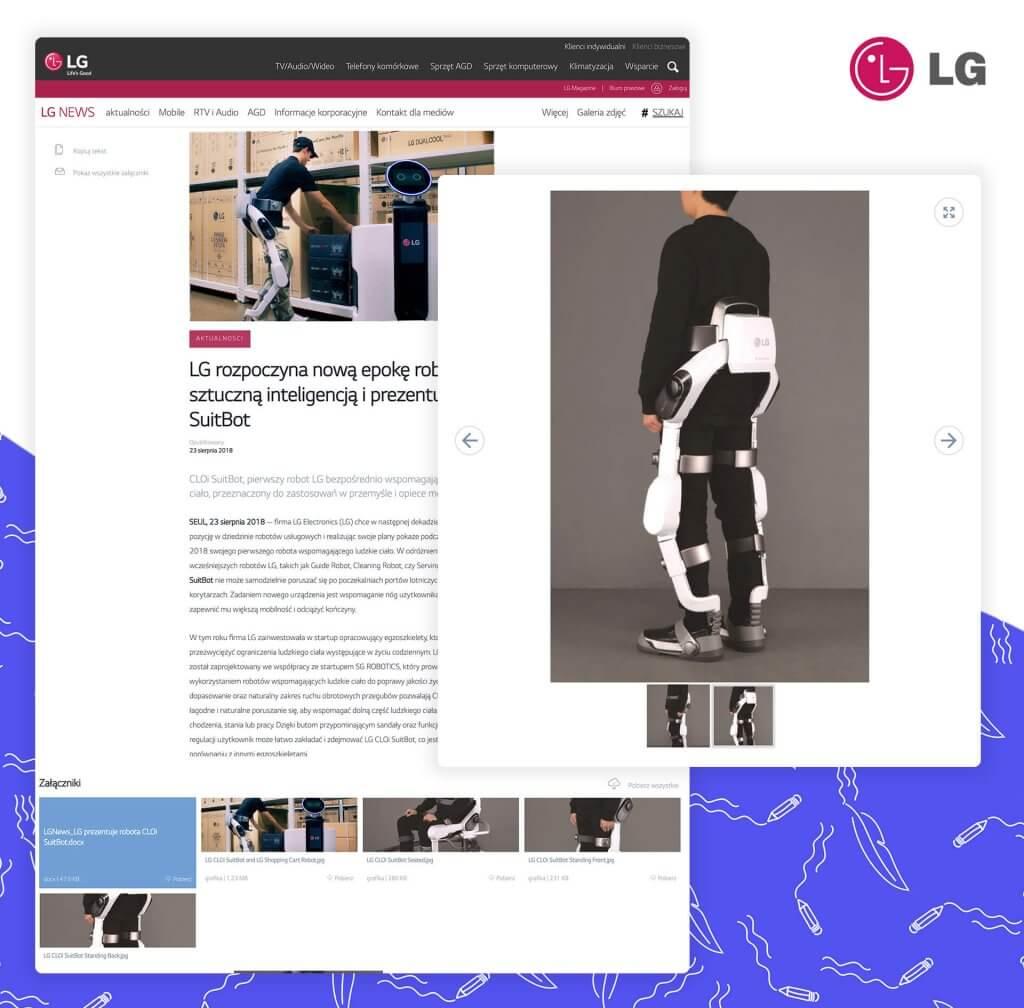 Informacja prasowa LG z galerią zdjęć i załącznikami
