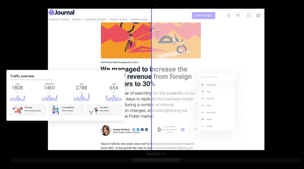 Story Creator Prowly - narzędzie, w którym przygotujesz w pełni interaktywne informacje prasowe