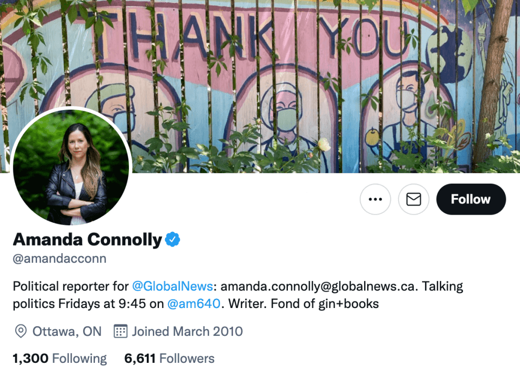 Amanda Connolly - Top Canadian media contacts