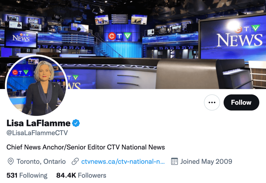 Lisa LaFlamme - Top Canadian media contacts