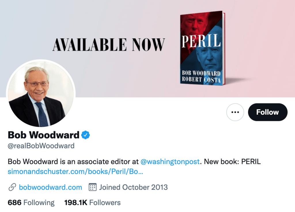 Bob Woodward - Top media journalist
