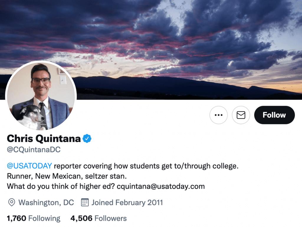 Chris Quintana - Top education journalists