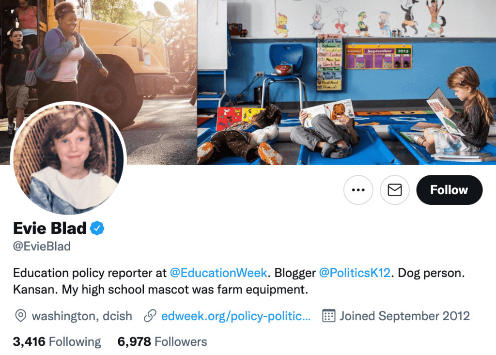 Evie Blad - Top education journalists