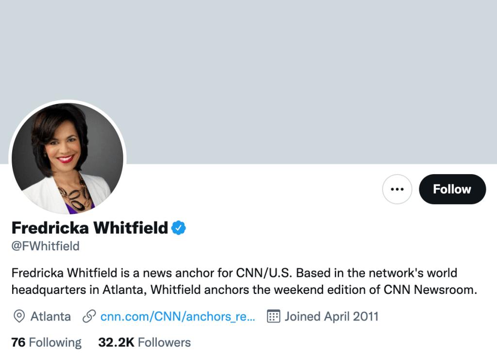 Fredricka Whitfield - Top media journalists
