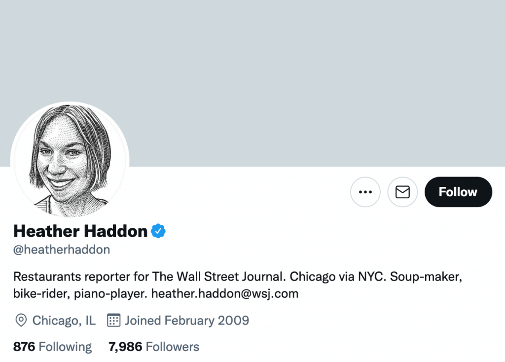 Heather Haddon - Top food journalists