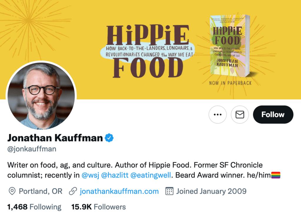 Jonathan Kauffman - Top food journalists