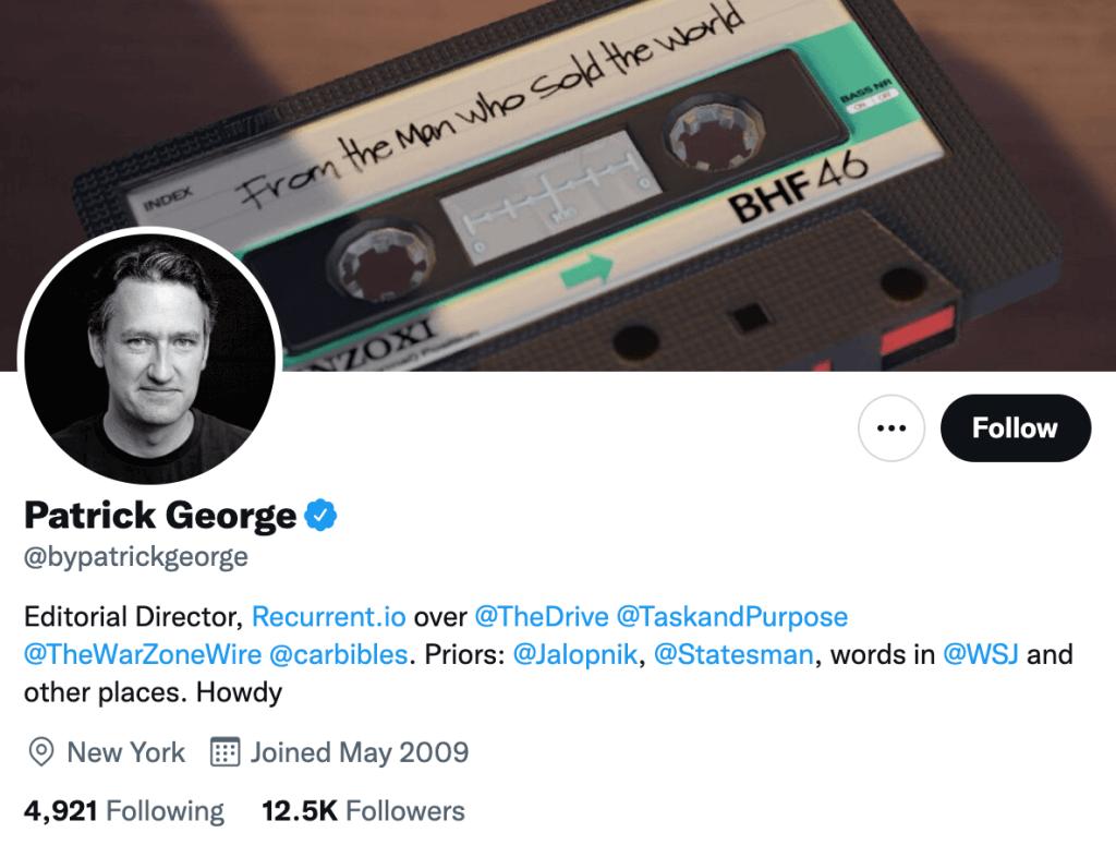 Patrick George - Top automotive journalists