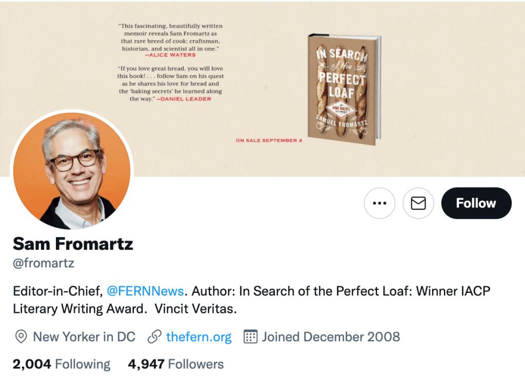 Sam Fromartz - Top food journalists