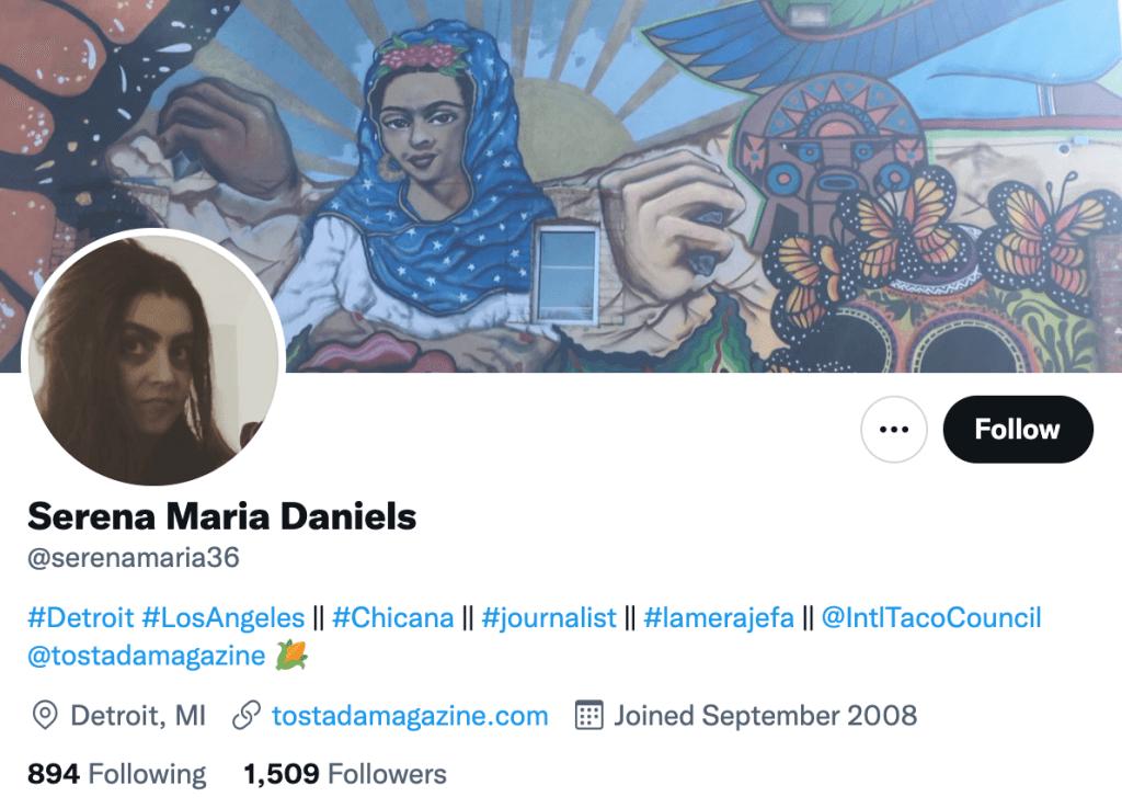 Serena Maria Daniels - Top food journalists
