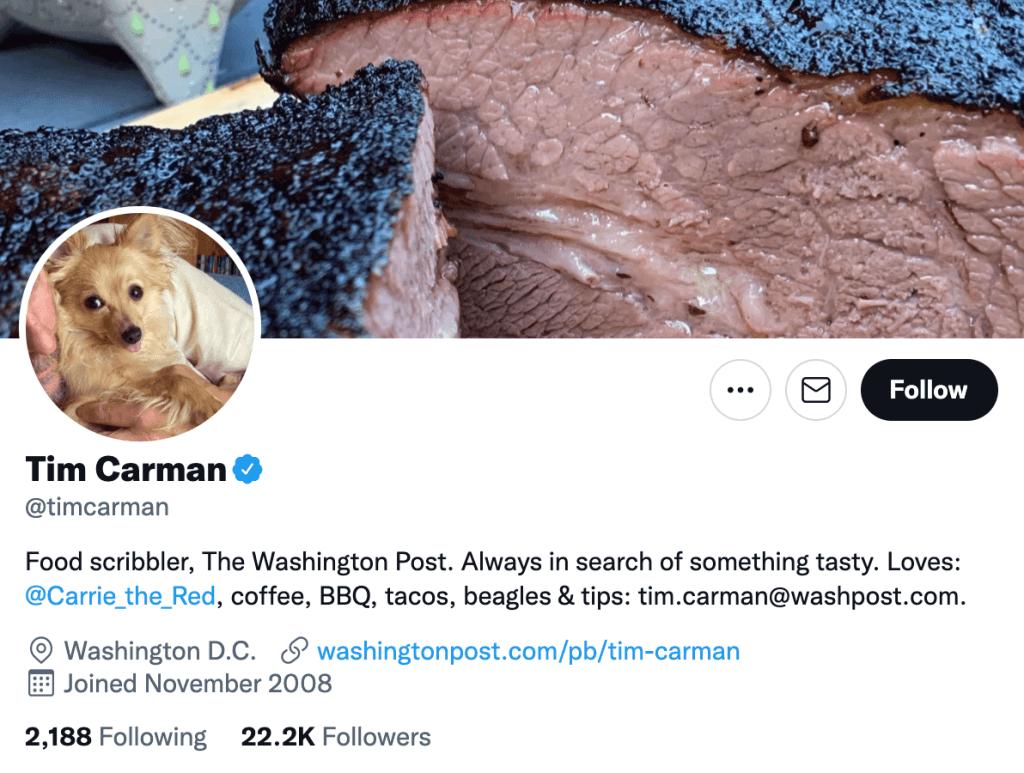 Tim Carman - Top food journalists