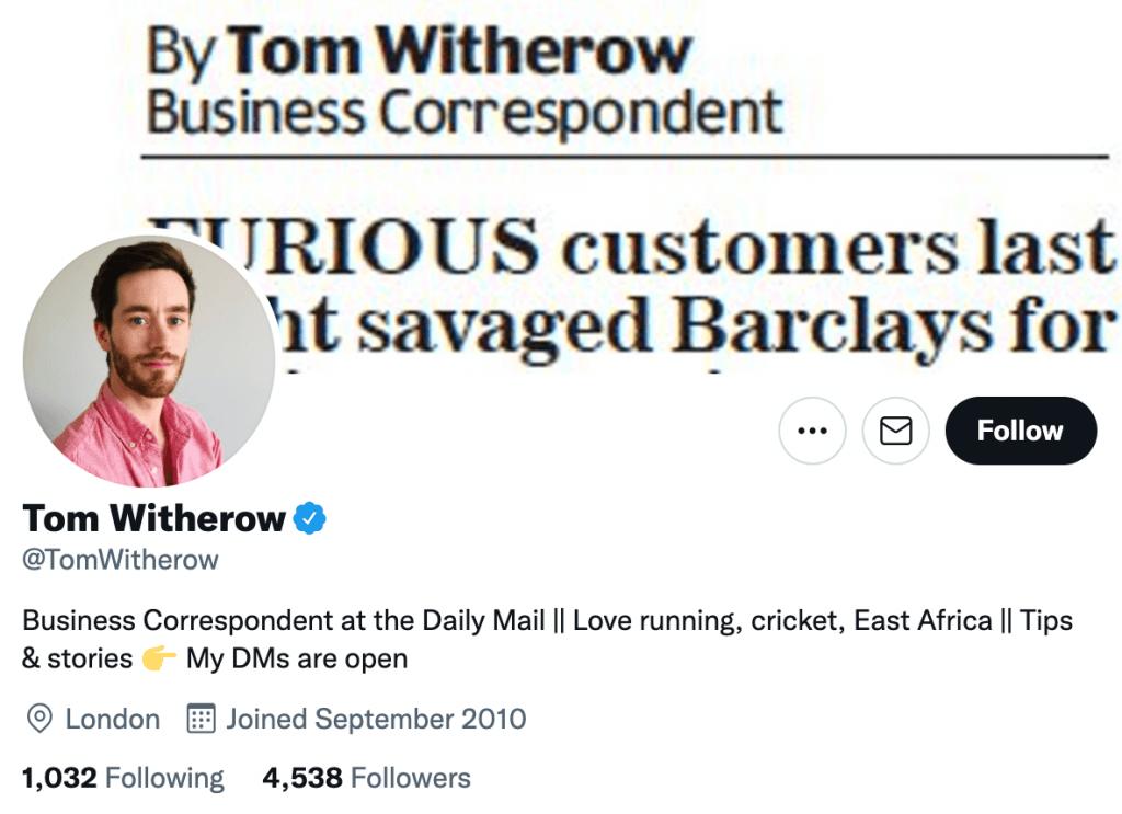 Tom Witherow - Top media journalist