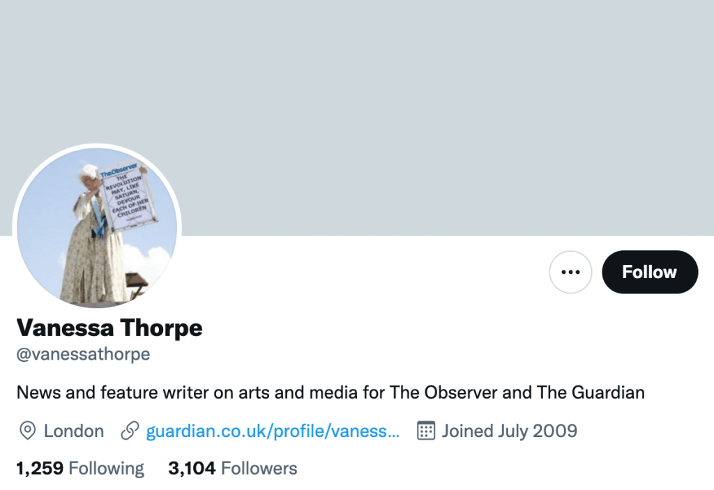 Vanessa Thorpe - Top media journalist