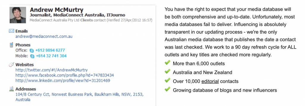 Mediaconnect Australian Media Database
