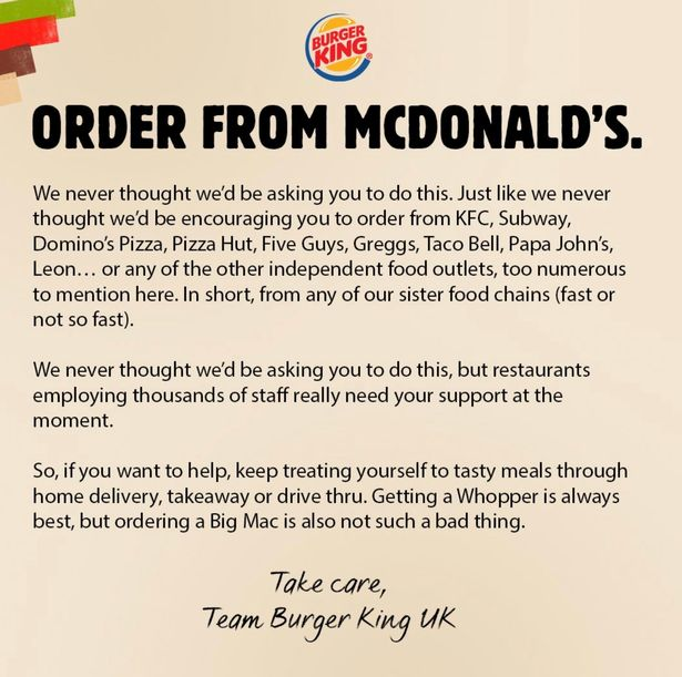 8 Most Impactful PR & Marketing Campaigns During The Pandemic: Burger King