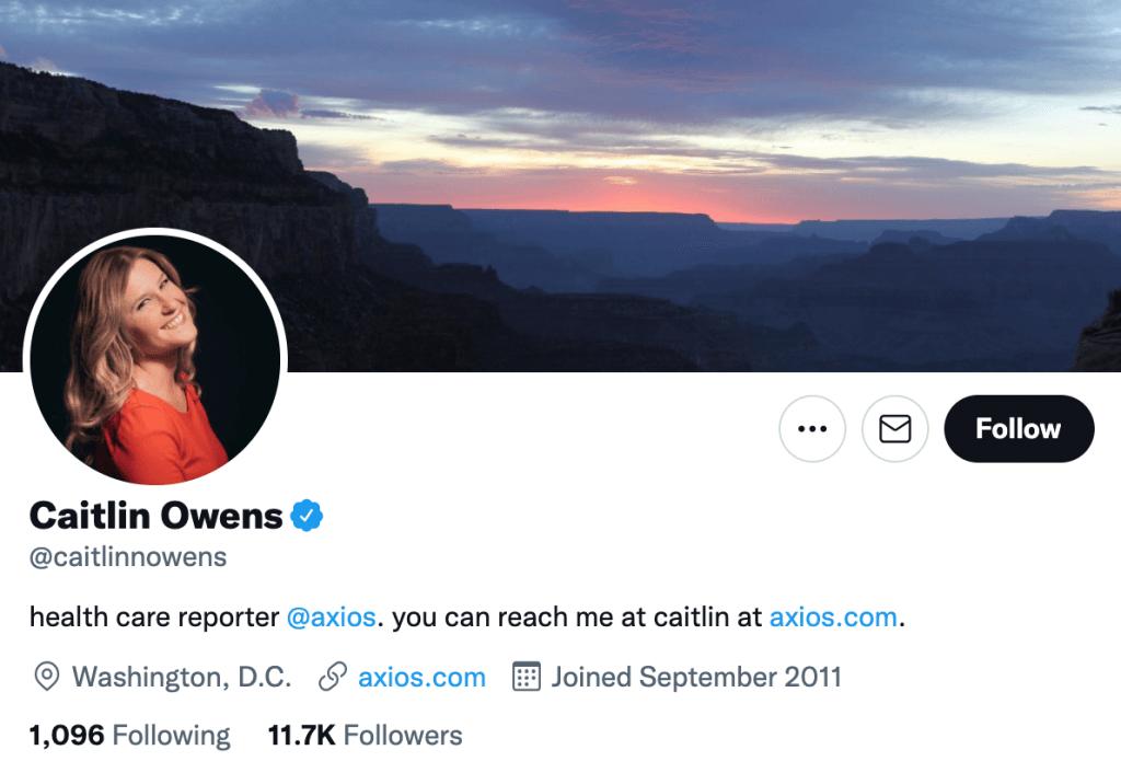 Caitlin Owens - Top healthcare journalists