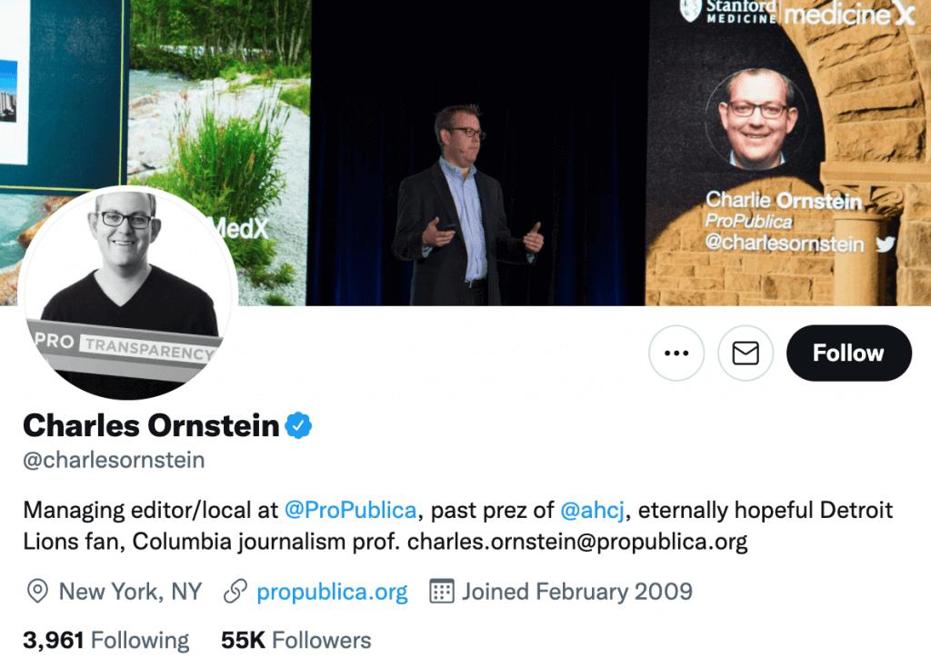 Charles Ornstein - Top healthcare journalist