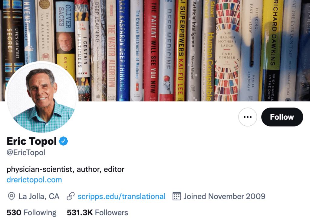 Eric Topol - Top healthcare journalist