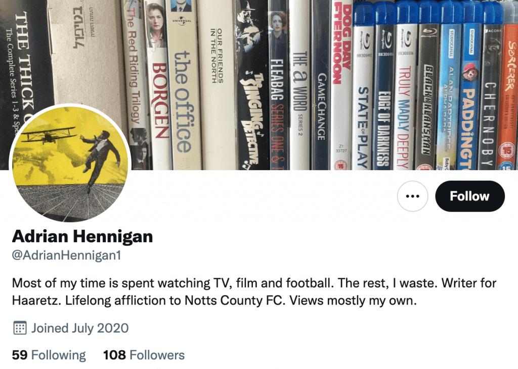 Adrian Hennigan - Top movie journalist