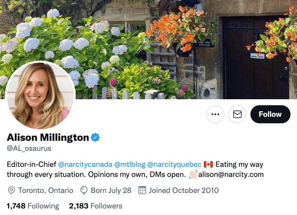 Alison Millington -Top lifestyle journalist