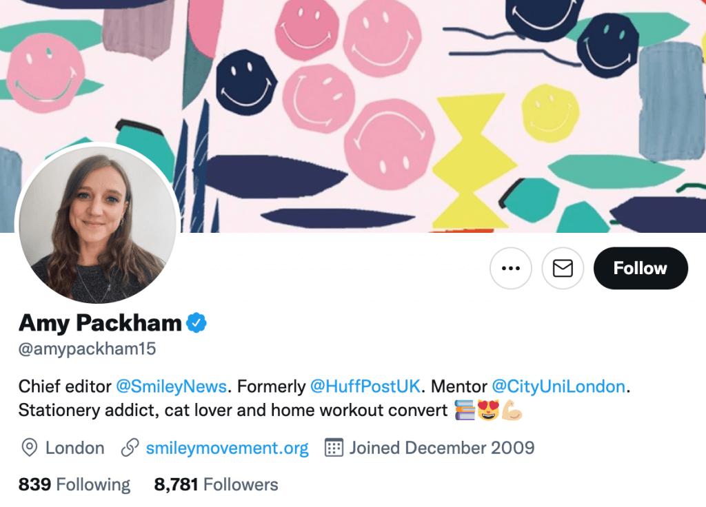 Amy Packham - Top lifestyle journalists