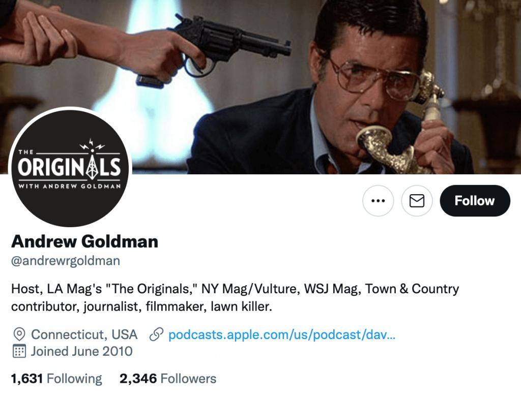 Andrew Goldman - Top entertainment journalist