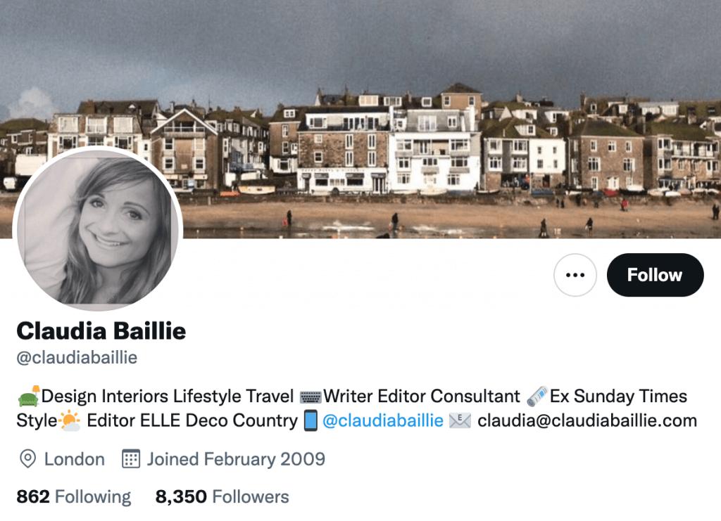 Claudia Baillie - Top design journalists