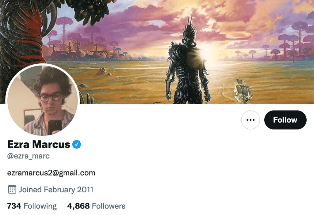 Ezra Marcus - Top entertainment journalist
