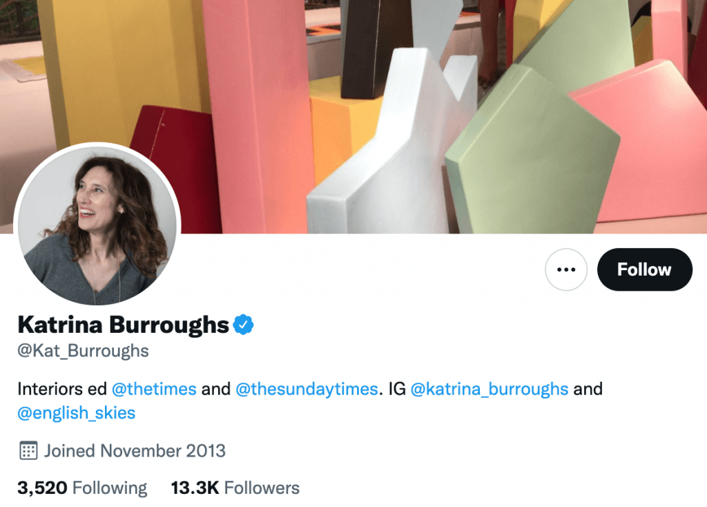 Katrina Burroughs - Top design journalists
