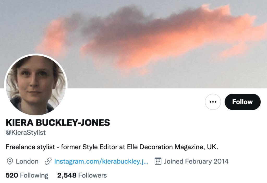 Kiera Buckley Jones - Top design journalist