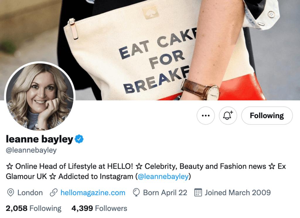 Leanne Bayley - Top lifestyle journalist