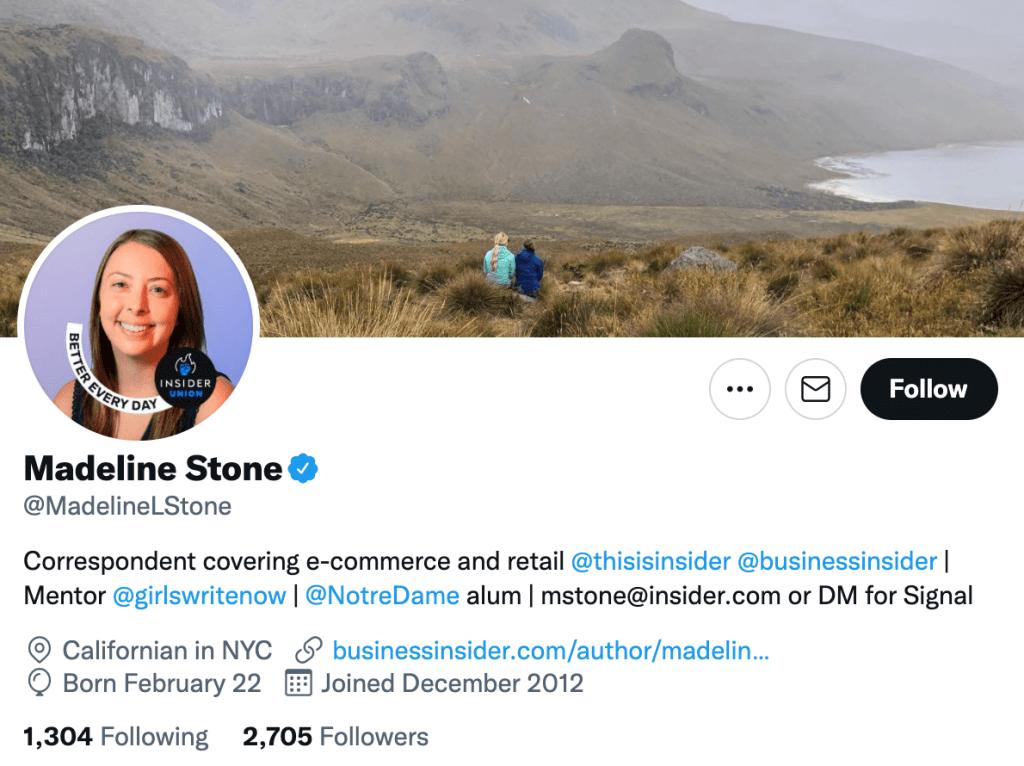 Madeline Stone - Top lifestyle journalist