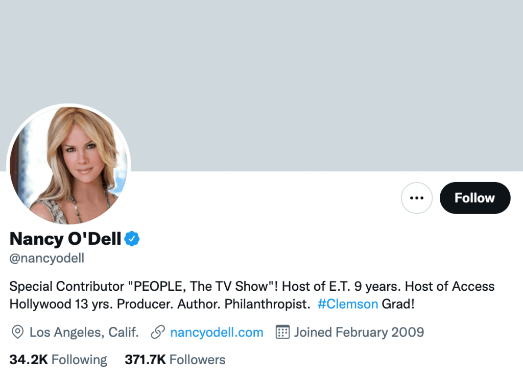 Nancy O'Dell - Top entertainment journalist