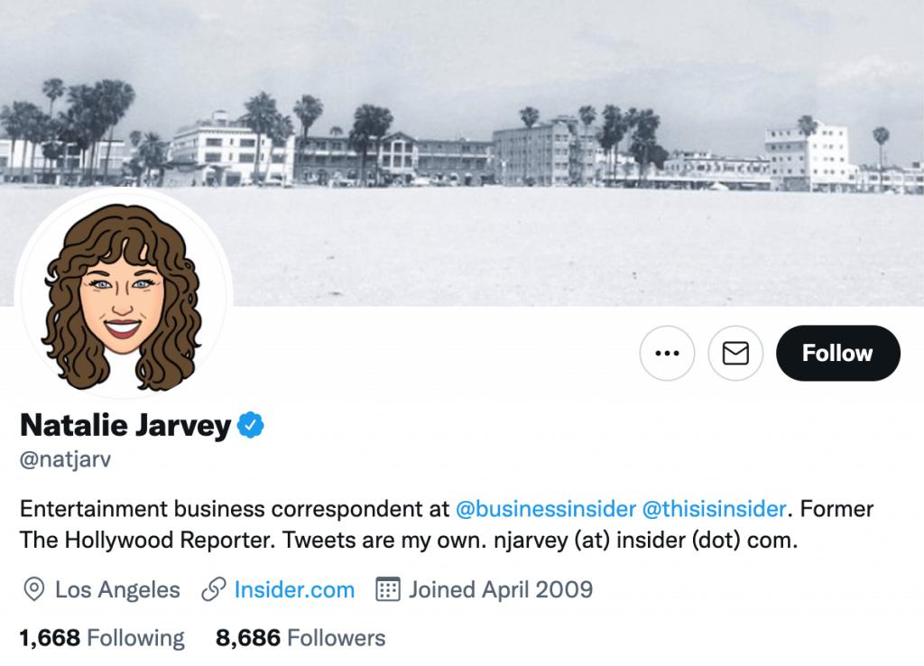 Natalie Jarvey - Top entertainment journalist