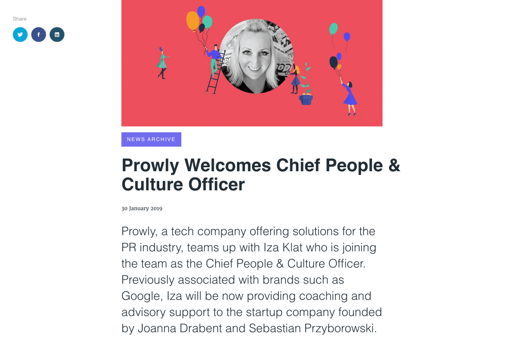 Press release example - Prowly