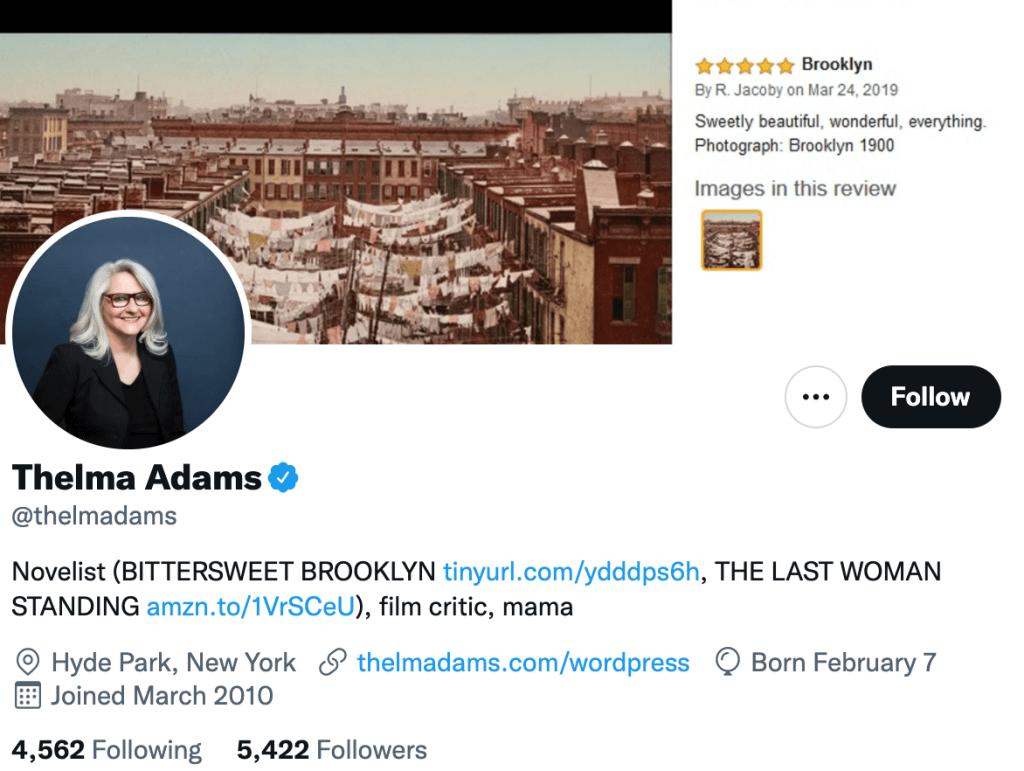 Thelma Adams - Top movie journalist