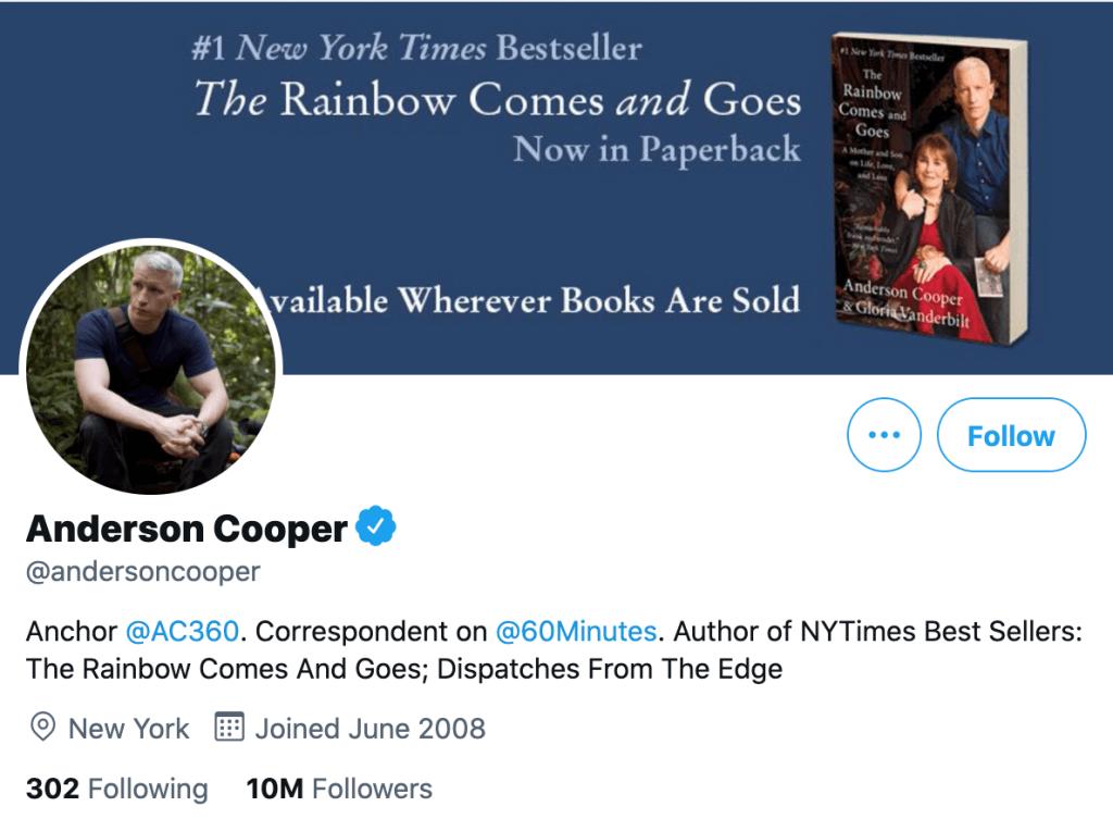 Anderson Cooper - Top news journalists