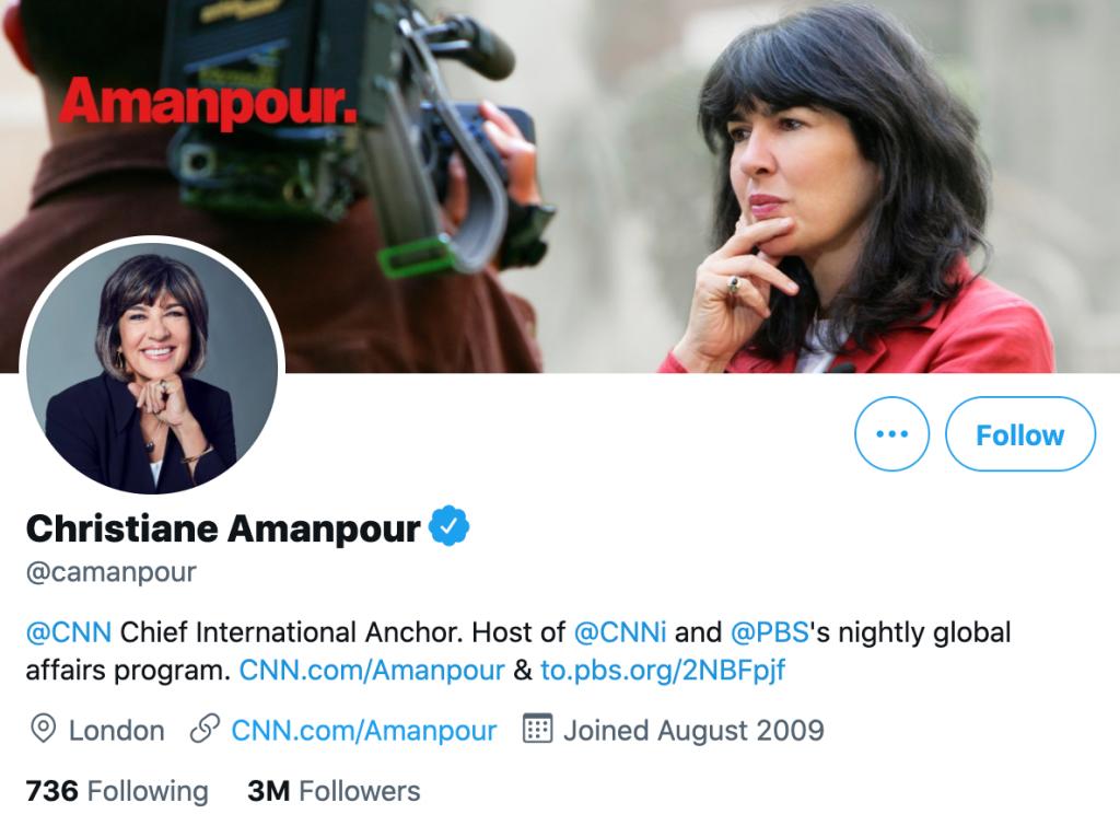 Christiane Amanpour - Top news journalists