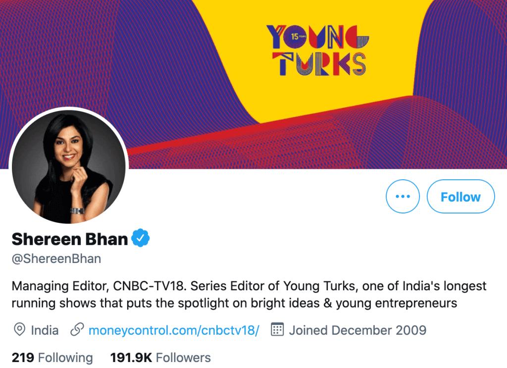 Shereen Bhan - Top news journalists