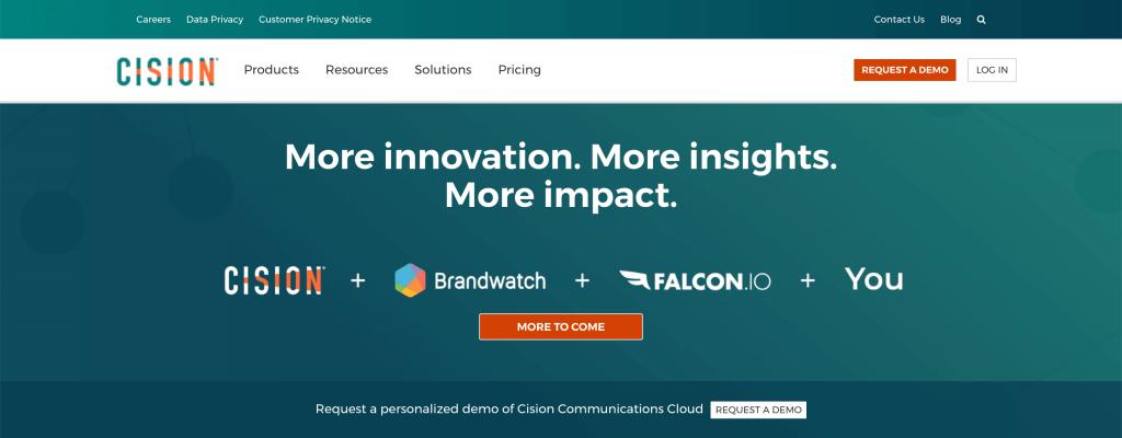 PR software comparison - Cision