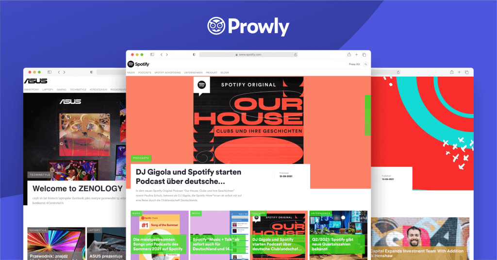 Online newsrooms created with Prowly