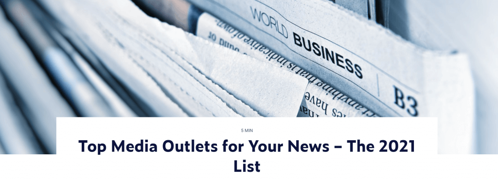 Top media outlets by Prowly