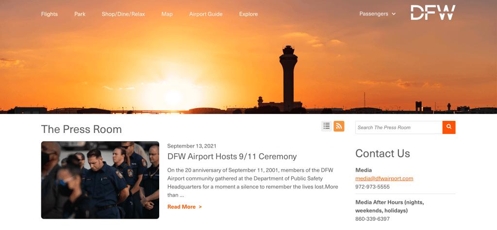 Virtual newsroom created with PressPage